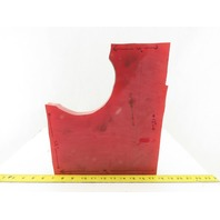 """1"""" Thick High Density High Hardness Red Delrin Material 11 x 13""""  W/ Cutout"""