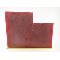 """2"""" Thick High Density High Hardness Red Delrin Material 18x24"""" W/ Cutout"""