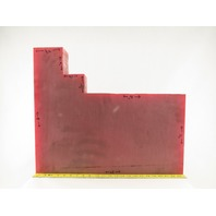 """3"""" Thick High Density High Hardness Red Delrin Material 20x24"""" W/ Cutout"""