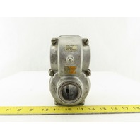 "Tolomatic 02250200 1:1 Ratio Right Hand Turn Right Angle Gearbox 1 x 1-1/4"" Bore"