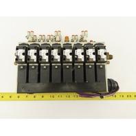 SMC NVFS2100-5FZ 4/2 Position Solenoid Valve Bank Manifold Assembly 24VDC Coil