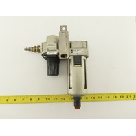 """SMC AF40-N04D-Z AR40-N04-Z 1/2"""" Air Pressure Regulator Filter Assembly"""