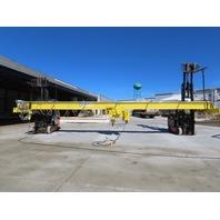 5 TON Yale Wire Rope Top Run Bridge Crane 34' I Beam Span 56' Run 460V W/Remote