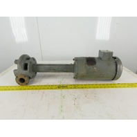 "Cast Iron Long Coolant Pump 16-1/2"" Long 3 Lead Motor 208/480v"