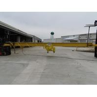 "Yale 5 Ton Wire Rope Top Run Bridge Crane 33' Span 52' 8"" Run 23' Lift W/Remote"