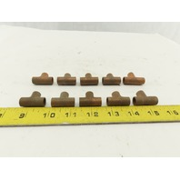 "1/4""  Wrot Copper Tee Solder-Connect Fitting Lot of 10"
