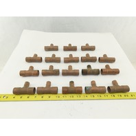 "3/4"" x 1/2"" x 3/4""  Wrot Copper Tee Solder-Connect Fitting Lot of 18"