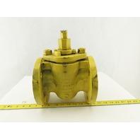 "Walworth 1797-F 3"" Cast Iron 175 WOG Flanged Plug Valve"