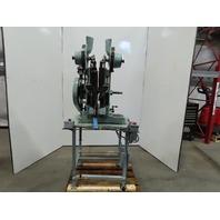 "Chicago Rivet & Machine Co. 72-567 Dual Head Riveter Self Feed 9"" Throat 115V"