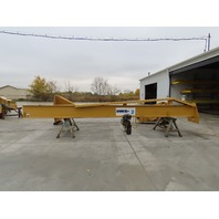 "2 Ton Cap 276"" Span 239"" Under Beam 360° Power Rotation Free Standing JIB Crane"