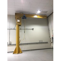 "2 Ton Cap 274"" Span 246"" Under Beam 360° Power Rotation Free Standing JIB Crane"