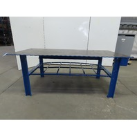 "Steel Welding Work Bench Fabrication Layout Table 89x42x34-1/2""H 1/2"" Thick Top"