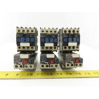Telemecanique LC1 D09 10 D18 10 600V 7.5Hp Contactor Starter Overload Lot Of 3