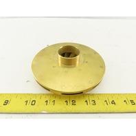 """Flint & Walling 126901 4.47"""" Brass Impeller For 2Hp Centrifugal Pump"""