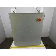 "Hoffman A423610LP Electrical Enclosure 42""x36""x10"" W/Back Plate & 30A Disconnect"