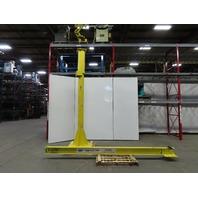 1/2 Ton 1000Lbs. Cap 12' Span 12' Under 360° Rotation Floor Mount JIB Crane