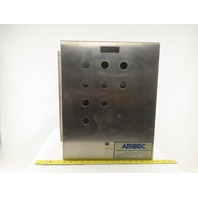 """Hoffman C-SD20166SS Electrical Enclosure Stainless Steel 20""""x16""""x6""""W/Back Plate"""