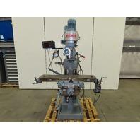 "Enco 100-1527 2HP 220V 3Ph 9"" x 42"" Multi Speed Knee Milling Machine See Info!"