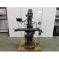 "Supermax YC-1/2VS 220/440V 3Ph 9"" x 42"" Multi Speed Knee Milling Machine DRO 2Hp"