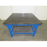 """50"""" x 50"""" Steel Top Fabrication Assembly Work Welding Table 1/2"""" Steel 32"""" tall"""
