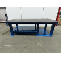 "1/2"" Thick Top Steel Welding Work Bench Assembly Layout Table 96"" x 48"" x 31"""