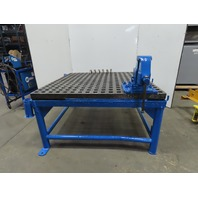 "Weldsale Acorn 5'x5' Platen Heavy Duty Cast Welding Table W/32"" Stand & Vice"