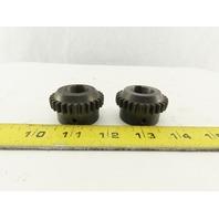 Lovejoy Dentex B24 20mm Bore 28 Teeth Flexible Coupling Hub Lot Of 2