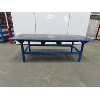 "Steel Welding Work Bench Assembly Layout Table 97""x 43""x 32"" High 1"" Thick Top"