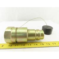 "CEJN Series 855 Hydraulic Steel Male Nipple Quick Coupler 1-1/2"" NPT"