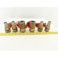 "CEJN 605-1601 2 Hydraulic Steel Female Quick Coupler W/605-6601 Nipples 3/4"" NPT"