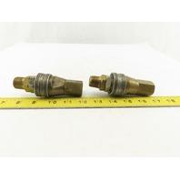 """Hansen Series 8000 Brass Quick Disconnect W/ Nipple 1/2"""" NPT Set of 2"""