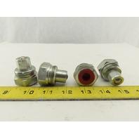 "Enerpac CH604 Hydraulic Coupler Male Nipple Half 10,000 PSI 3/8"" NPT Lot/4"
