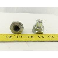 "Parker/Enerpac Hydraulic Coupler Male Nipple Half 10,000 PSI 3/8"" NPT Lot of 2"