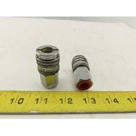 """Hyson 356 0439 DC High Pressure Female Quick Connect Coupling 1/4"""" NPT Lot of 2"""