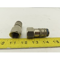 """CEJN 320 1452 Sires 320 Female Quick Connect Coupling 1/2"""" NPT Lot of 2"""