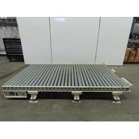 "Prime  60""Wx104""L Gravity Roller Conveyor 57"" BF x 2.50"" Galvanized Roller"