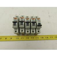 Merlin Gerin C60N Multi 9 4 Amp Type C Circuit Breaker 277 VAC Lot Of 5