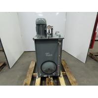 50 Gallon Oil Storage Transfer Tank W/Marzocchi Pump WEG /1Hp 208-230/460V 3Ph