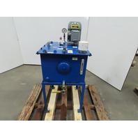 20 Gallon Oil Storage Transfer Tank W/Marzocchi Pump WEG /1Hp 208-230/460V 3Ph