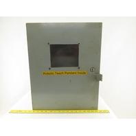"Hoffman A20N16ALP 20"" x 16"" x 7""  Enclosure Robot Teach Pendant Protection"