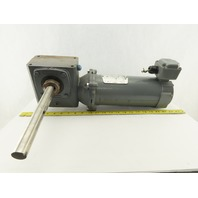 "Boston Gear 20:1 Ratio 88RPM 90VDC 8"" Extended Shaft Right Angle Gear Motor"