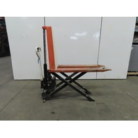 "Lift Rite 2200 Lb 12VDC Electric/Manual Hand Pump 31"" lift Scissor Pallet Jack"