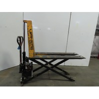 "Lift Rite 2200 Lb 12VDC Electric/Manual 60"" Forks 31"" lift Scissor Pallet Jack"