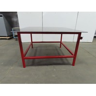 "3/8"" Thick Top Steel Fabrication Welding Table Work Bench 61""x60-1/2""x36-1/2"""