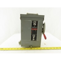 General Electric TG3221R 30A 240VAC 250VDC 3 Pole Fused 3R Safety Disconnect