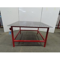 "3/8"" Thick Top Steel Fabrication Welding Table Work Bench 60-3/8x60-1/4x36-1/2"""