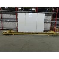 """4000lb 2 Ton Capacity Single Girder Under Hung Bridge Crane 19' Span 286"""" OAL"""
