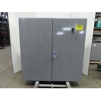 "Hoffman Free Standing Double Door Electrical Enclosure 72x72x12"" W/Backplate"