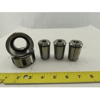 "OZ25 Spring Collet 1/2"" Lot Of 3 With 2 Nuts"