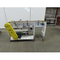 "Sentry 12"" x 60"" Long 8FPM Adjustable Height Slide Bed Conveyor 3Ph"